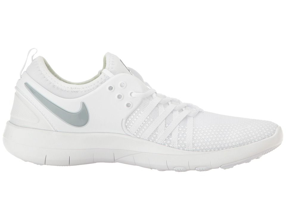 Nike Free Tr 7 Women S Cross Training Shoes White Metallic Silver Dress Shoe Bag Cross Training Shoes Shoes
