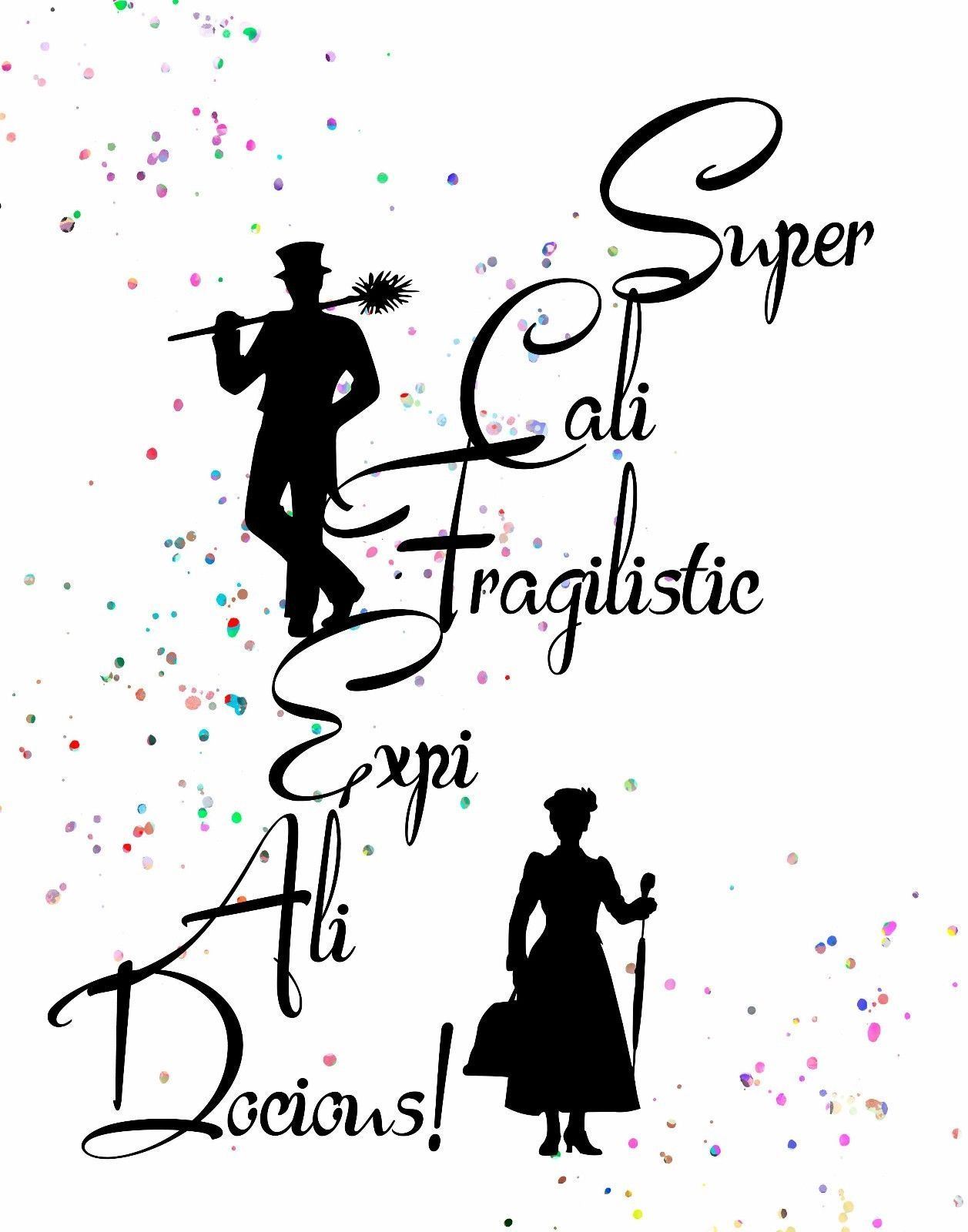 Photo of Details about Watercolor Pop Art Print: MARY POPPINS Quote: Supercalifragilistic FUN JOY HAPPY