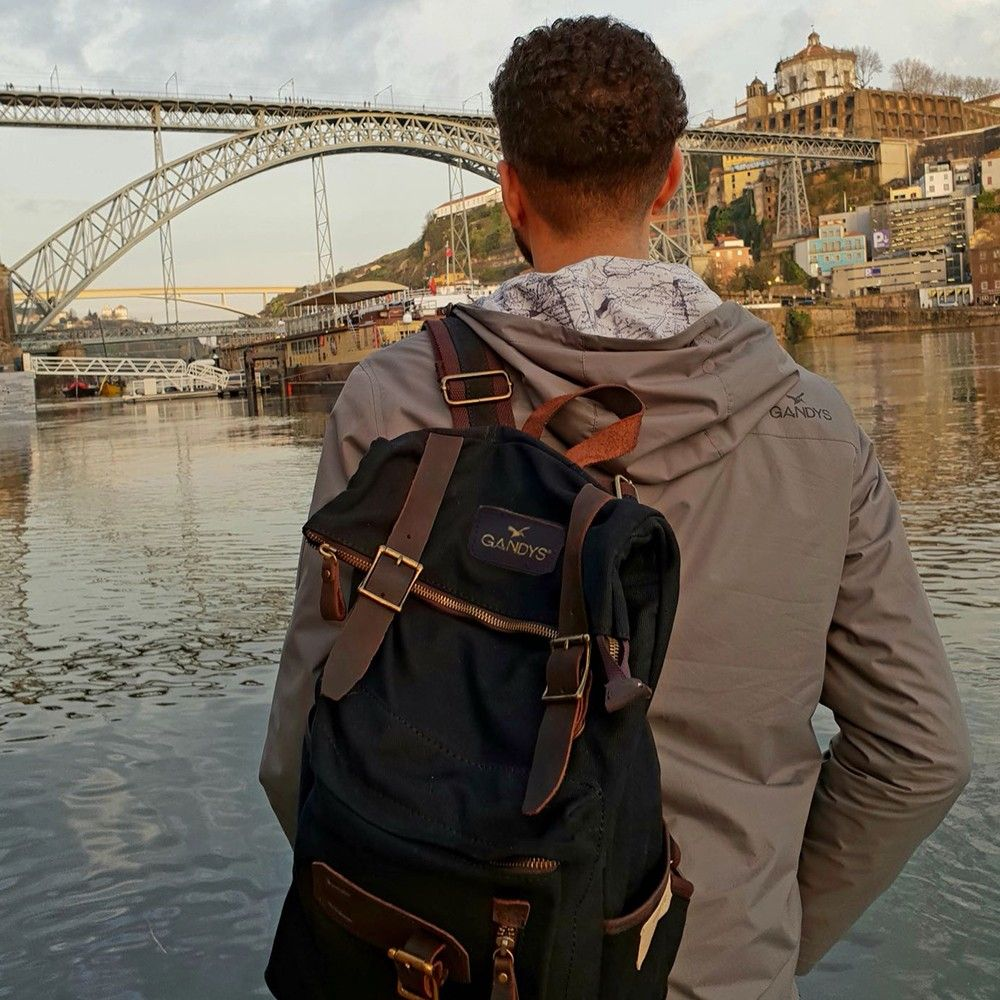 9e21d331461d Pebble Black Waxed Authentic Bali Backpack