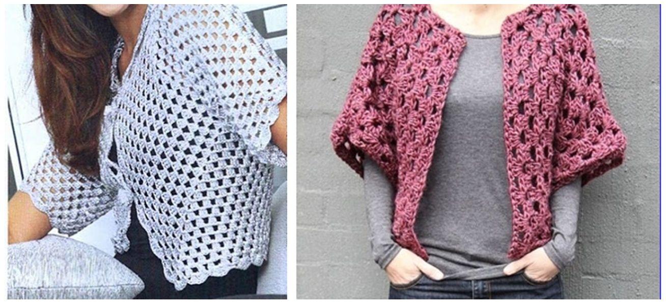 Saco abierto con square crochet | Patrones | Pinterest | Sacos y ...