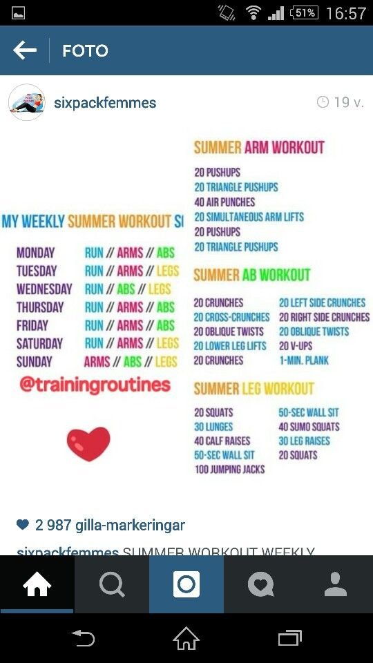 Summer workout