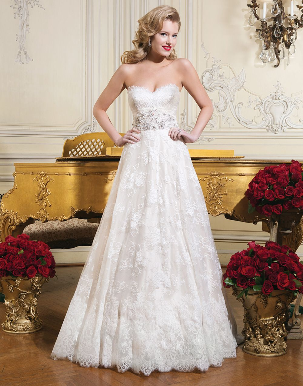 Justin alexander wedding dresses style chantilly lace ball gown
