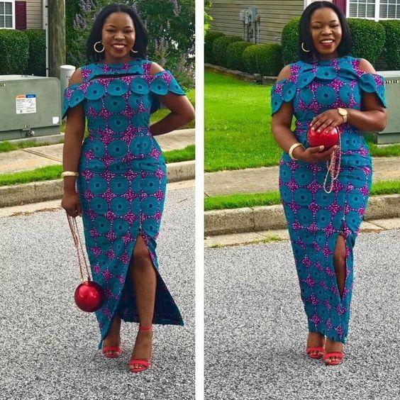 Beautiful African Ankara Styles For Curvy Ladies   Ankara gown ...