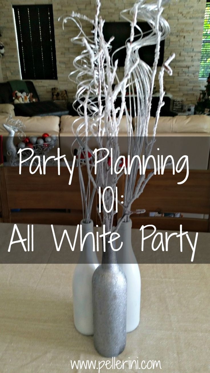 Beautiful white balloon display for an all white birthday party – All White Party Invitation