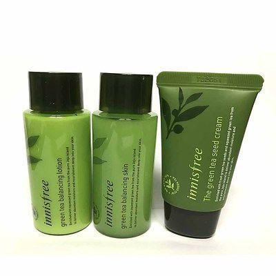 Innisfree Sample Green Tea Balancing Skin Care Set Of 3 Item 40 Skin Lotion Cream 41