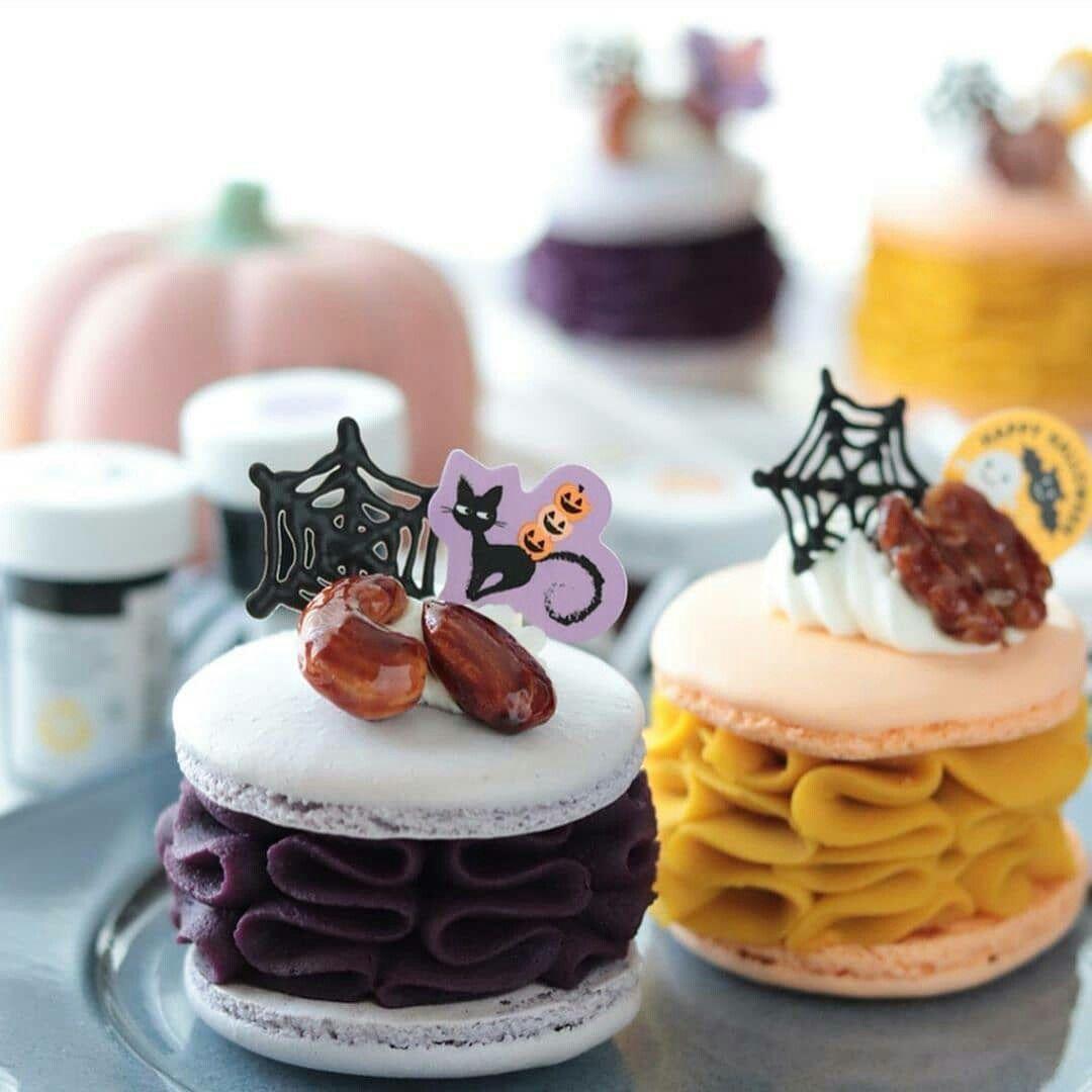 Halloween macarons ~.~ #halloweenmacarons Halloween macarons ~.~ #halloweenmacarons