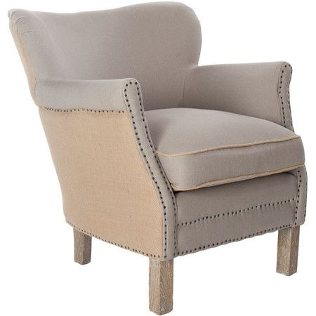 The perfect accent for your living room seating group or master suite ensemble, this lovely birch wood-framed arm chair showcases a wingback design and nailh...