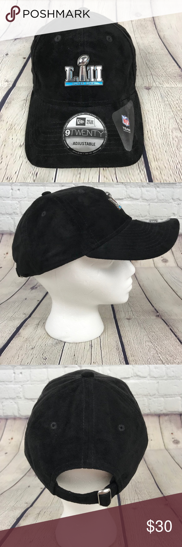 quality design 45515 418ae NFL Super Bowl LII 52 New Era Adjustable Hat Cap New Era 9 Twenty Superbowl  LII hat. Black, 100% polyester. From the 2018 Eagles Patriots Super Bowl  game.