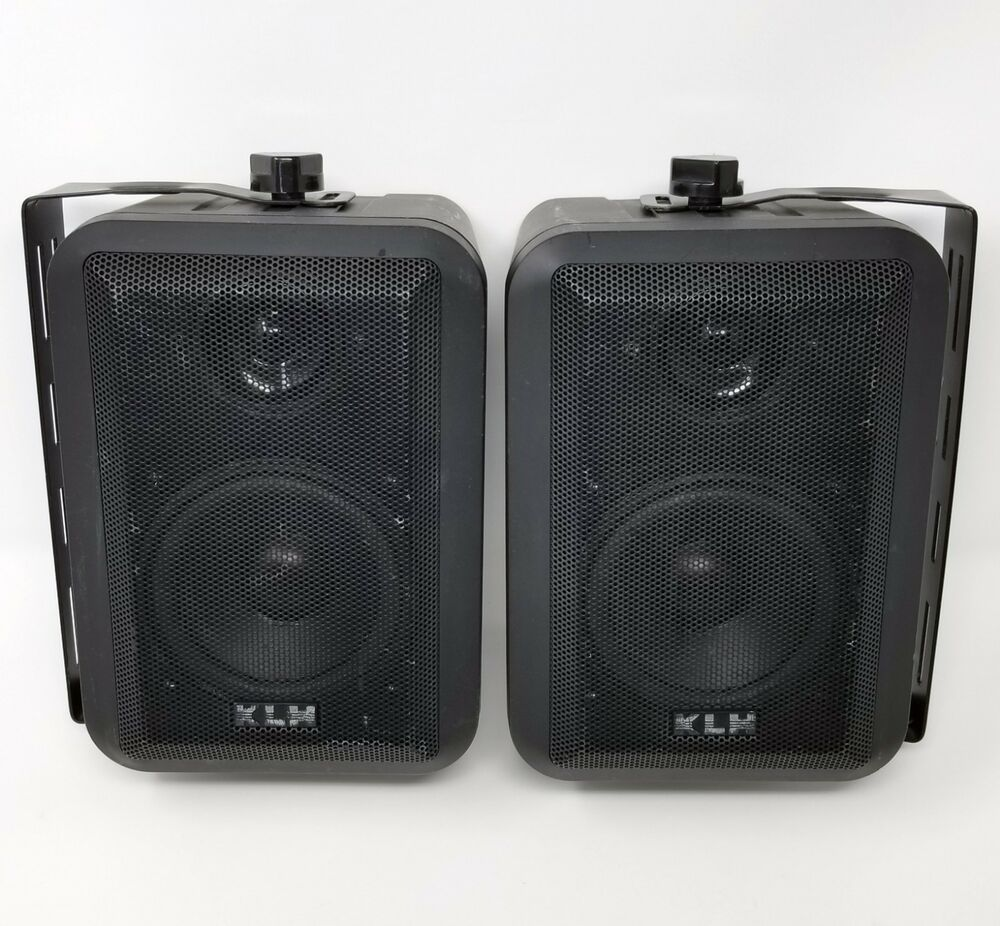 Klh 980 Indoor Outdoor Speakers 8 Ohm For 10 To 100 Watt Receivers With Brackets Klh Outdoor Speakers Speaker