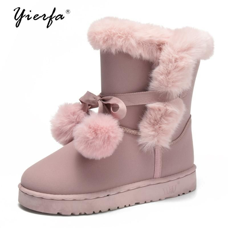 014c616775bfc 2017 winter new snow boots fur wool winter warm shoes with modelsmodkily