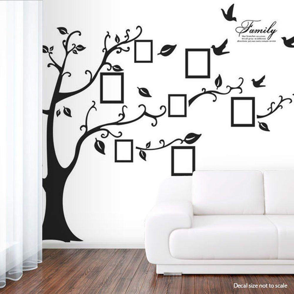 Sass n frass by tina httpsassnfrasstinagowans family newisland photo picture frame family tree removable wall sticker baby nursery decor wall decals black large right amipublicfo Image collections