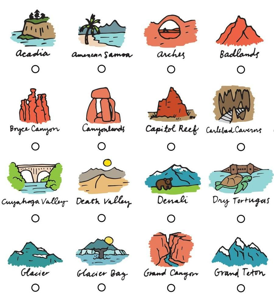 62 National Parks Checklist Poster Free Shipping In 2020 National Parks Lake Clark Guadalupe Mountains