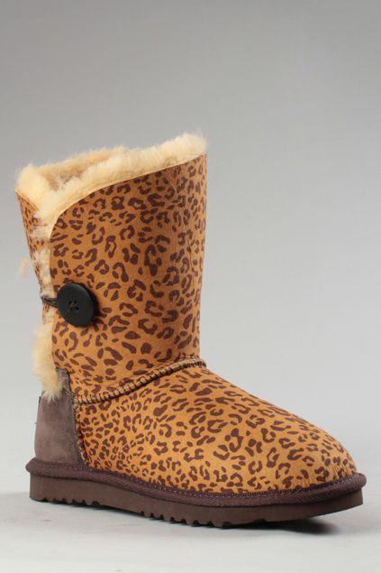 ROMWE | Aukoala Australia Zora Leopard Boots, The Latest Street Fashion