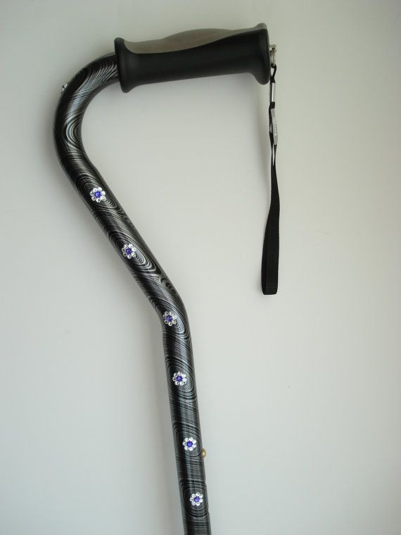 Decorated Walking Cane Grandmother Gift Mother By RhinestoneCanes Impressive Decorated Canes