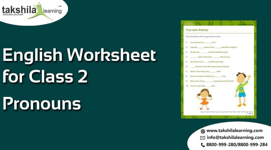 CBSE Class 2 English Worksheets for Pronoun & Video classes ...