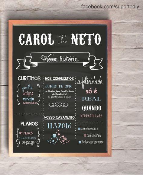Chalkboard Casamento Para Imprimir Coisas De Casamento