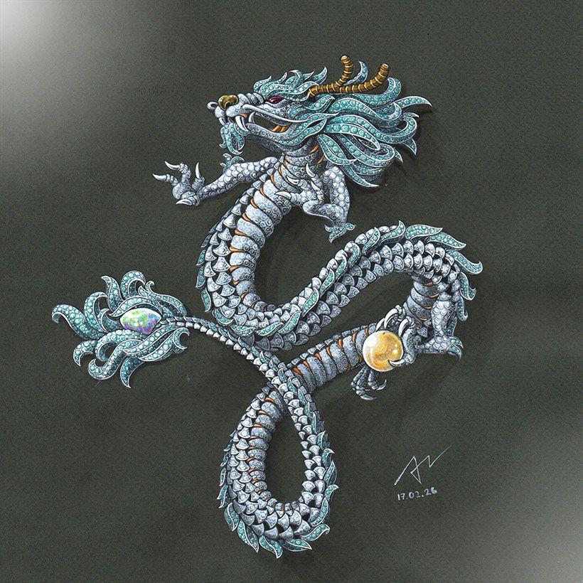 Finish Im want power azilaz dragon handsketch