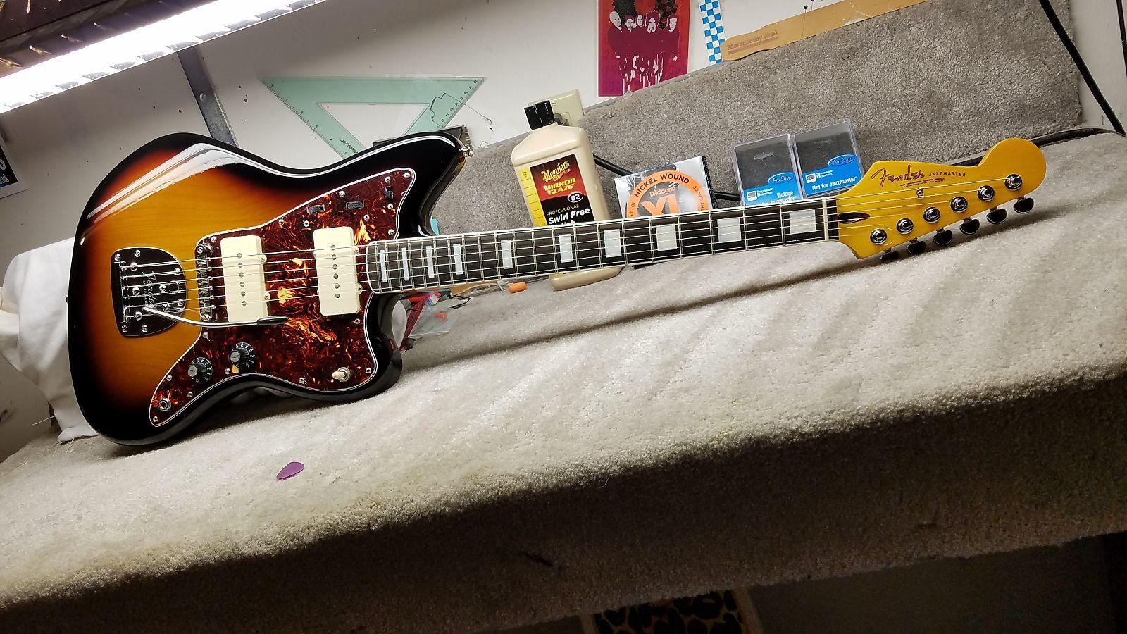 Fender Jazzmaster w/ Reverse Headstock, Neck Binding & Block Inlays ...