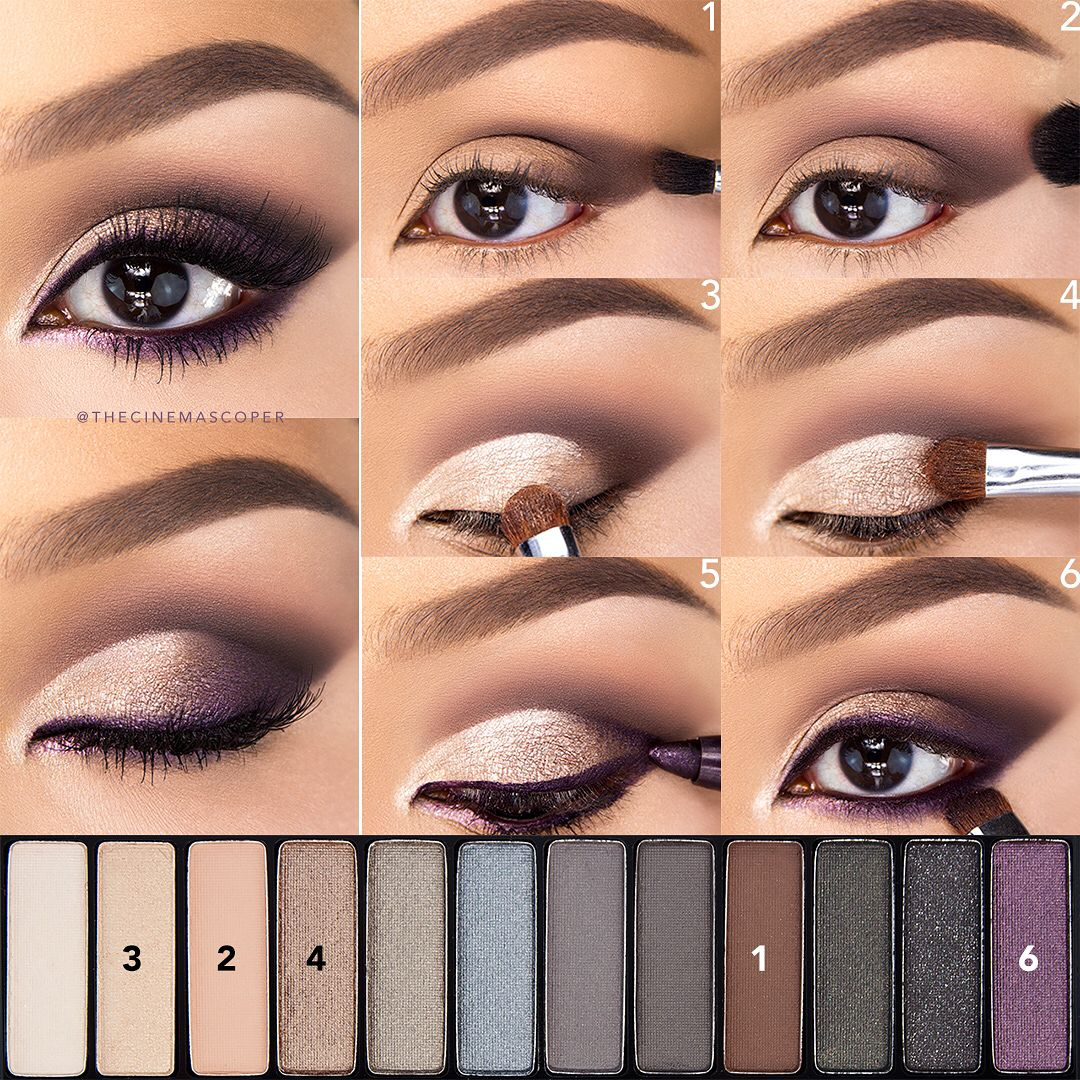 Eyeshadow For Brown Eyes Eye shadow application, Purple