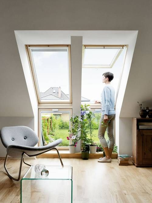 Roof #windows windows Pinterest Combles, Étages et Verrière - Fenetre Pour Maison Passive