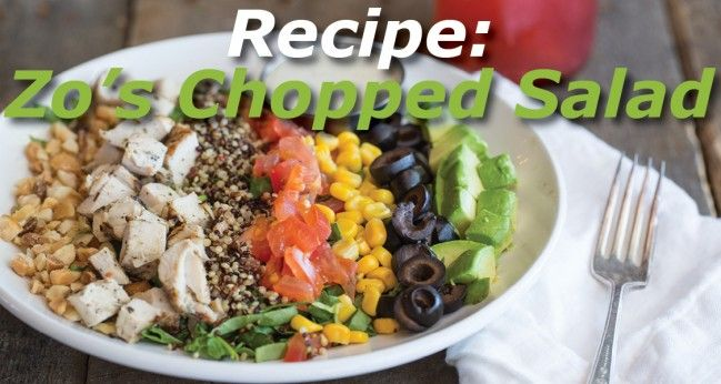 Want to up your salad-making game? Try your hand at  Zo's Chopped #Salad, filled with interesting texture and flavor combinations. Thanks, Picazzo's Organic Italian Kitchen, for this great recipe!