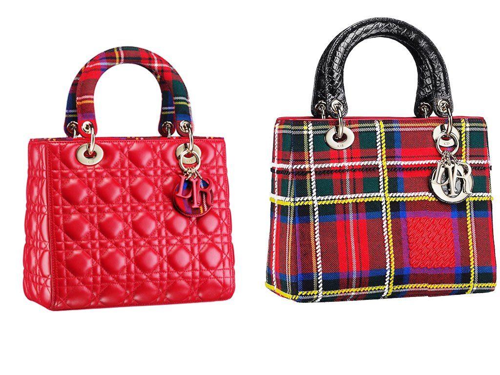 Dior Red Lady Dior Tartan Bag 2013  ae1dec6cce85c