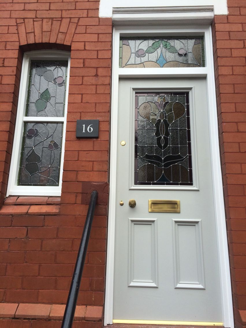 Horrible Upvc Door Removed And Replaced By An Original Victorian Stained Gl Front With Above