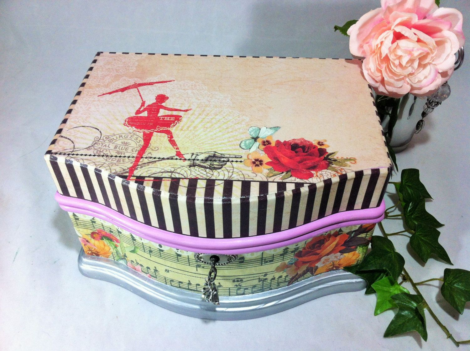 Girls Jewelry Box Lavender Ballerina Musical Jewelry Box Music