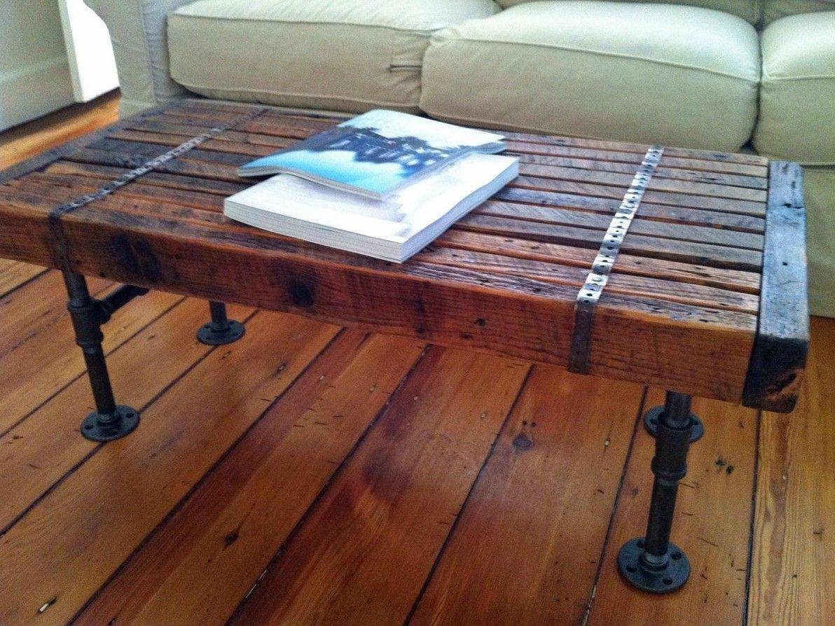Reclaimed Wood Coffee Table With Metal Legs