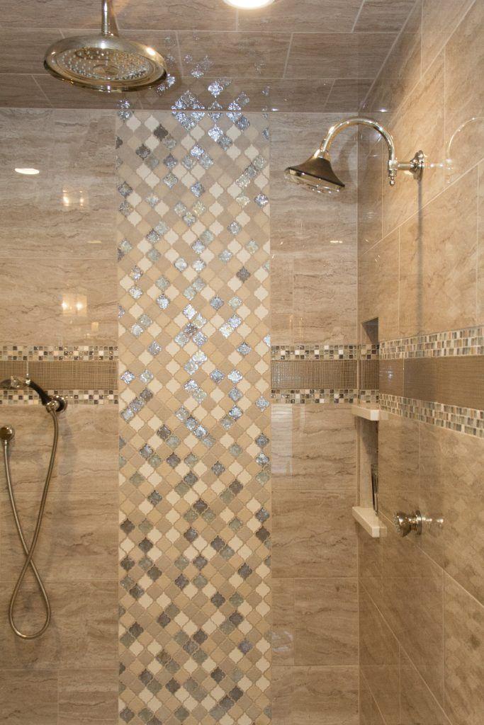 Shower: Tile, Walls: Evolution, Carbon 12x24, Rain Drop, Gris Accent ...