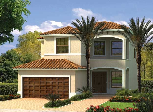This Two Story Mediterranean Waterfront Home Has Four Bedrooms