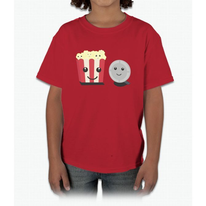 Cinema Movie Pocorn With Faces Bee Movie Young T-Shirt