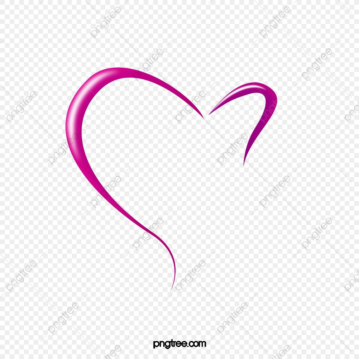 Purple Heart Decorative Pattern Half Heart Outline Heart Clipart Purple Half Heart Png Transparent Clipart Image And Psd File For Free Download Heart Outline Clip Art Heart Clip Art