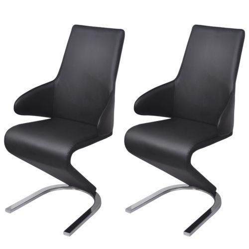 2x Freischwinger Esszimmerstühle Schwingstuhl Z Stühle Sitzgruppe
