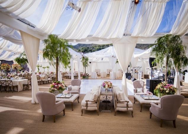 revelry event designers for la fete weddings santa barbara wedding fabric draping tent