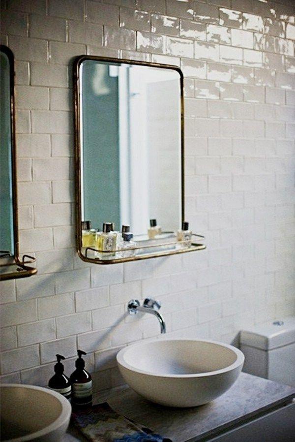 Le miroir salle de bains en 17 exemples modernes | Miroirs, Cadres ...