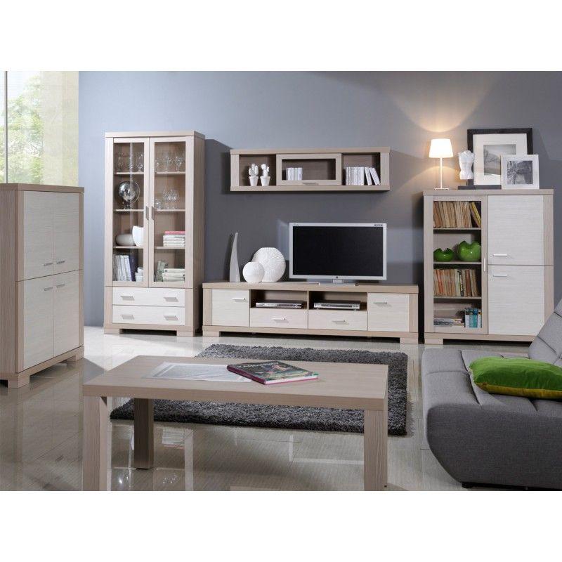 Oceanik 2 - chêne et blanc meuble tv Unité murale Pinterest