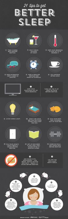 21 Tips to get better sleep (INFOGRAPHIC)