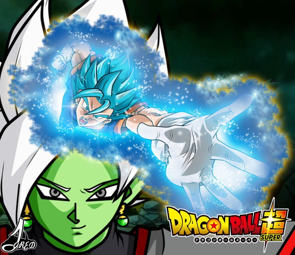 Vegetto ssj blue vs Zamasu Fusion