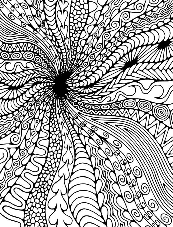 Abstract Black Hole Abstract Coloring Pages Paintings
