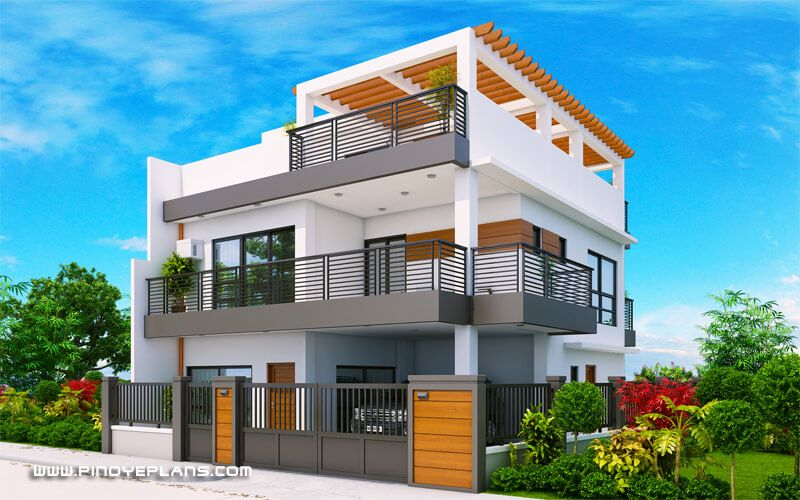 Modern 2 Storey House Design With 3 Bedroom en 2020
