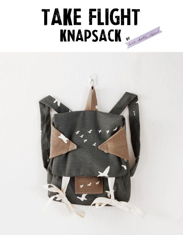 take flight knapsack by see kate sew | Kids | Pinterest | Costura ...