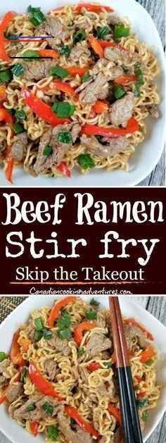 This Beef Pepper Ramen Noodle Stir fry! Is READY in less than 20 minutes!     #canadiancookingadventures #beef #pepper #bell #onepot #ramennoodles #ramen #noodles #asian #chinese #stirfry #skipthetakeout #onions #garlic #ginger #beefstirfryrecipes This Beef Pepper Ramen Noodle Stir fry! Is READY in less than 20 minutes!     #canadiancookingadventures #beef #pepper #bell #onepot #ramennoodles #ramen #noodles #asian #chinese #stirfry #skipthetakeout #onions #garlic #ginger<br>