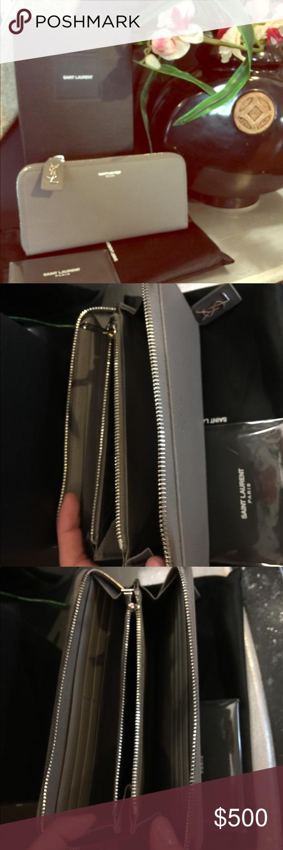 312008a13d Authentic YSL Rive Gauche Zip Around Wallet Saint Laurent's Rive ...