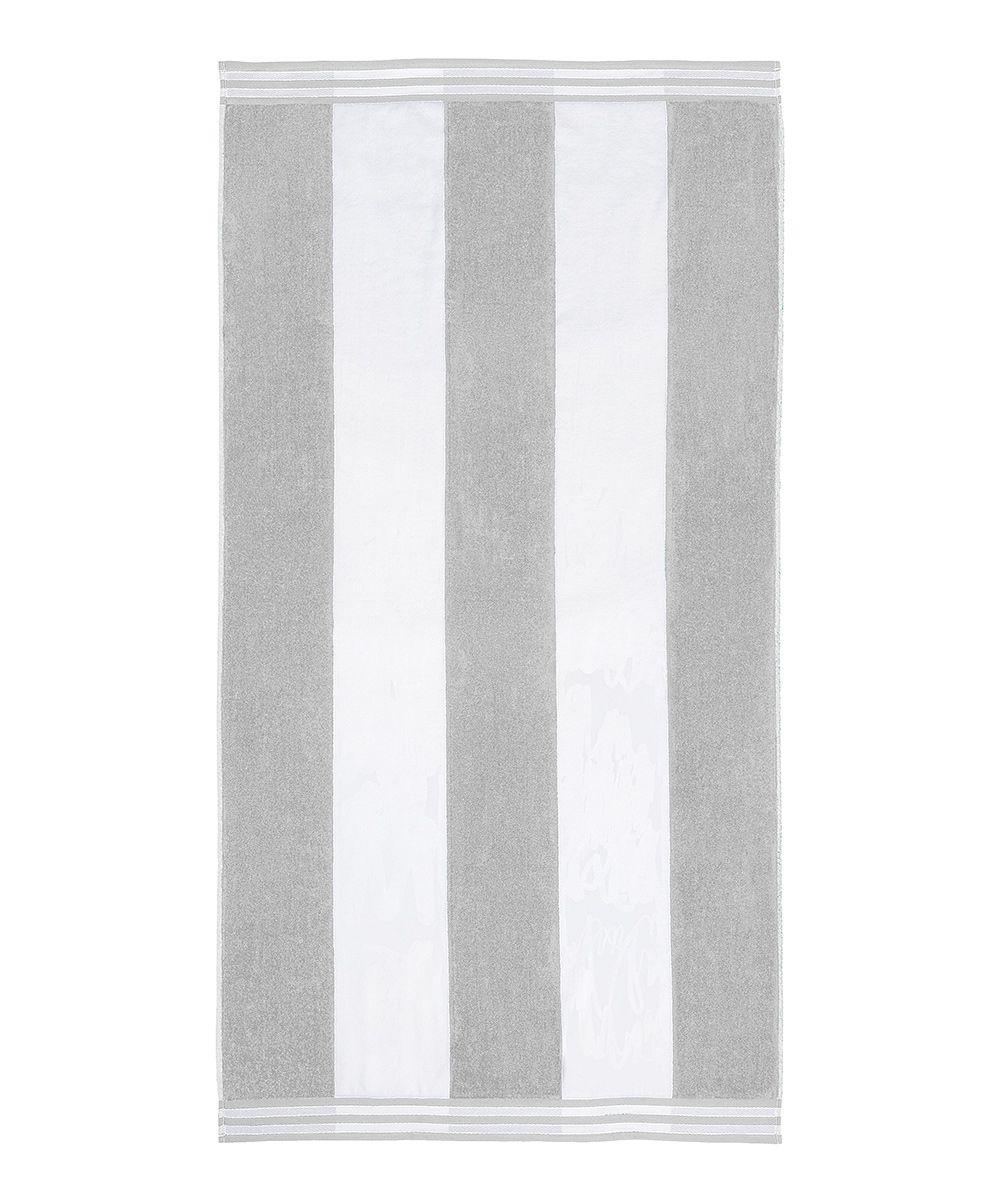 Light Grey Cabana Stripe Oversized Beach Towel Oversized Beach