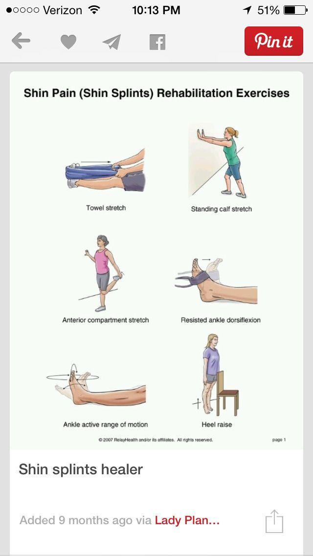 Shin splint work outs