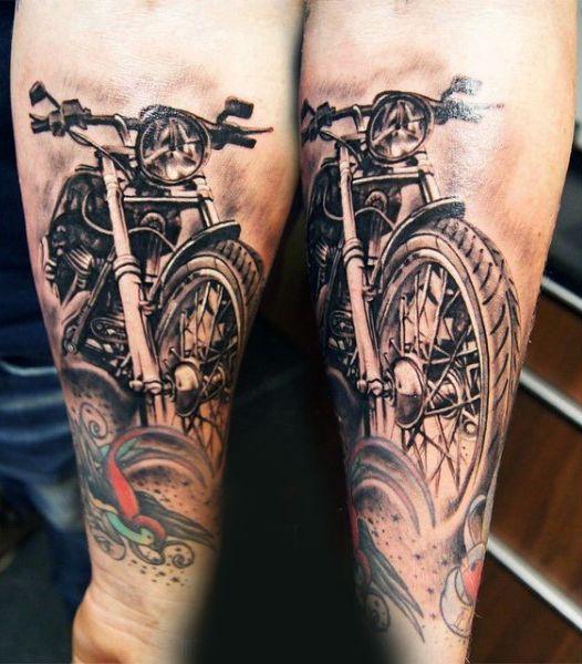 mens forearm vintage harley davidson bike tattoos projekty do wypr bowania pinterest bike. Black Bedroom Furniture Sets. Home Design Ideas