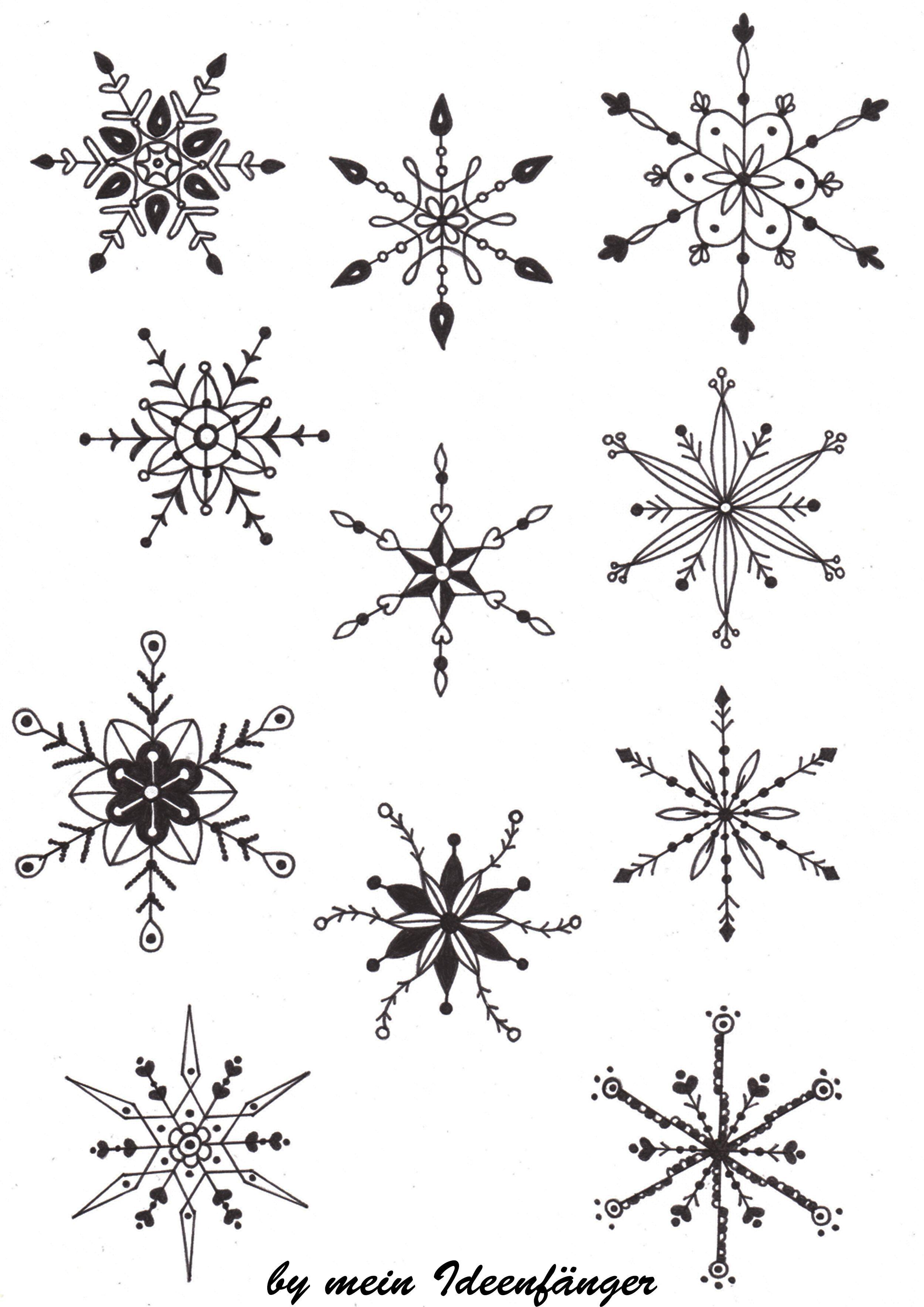 Nahtloses Schneeflocken Muster Vektor Abbildung