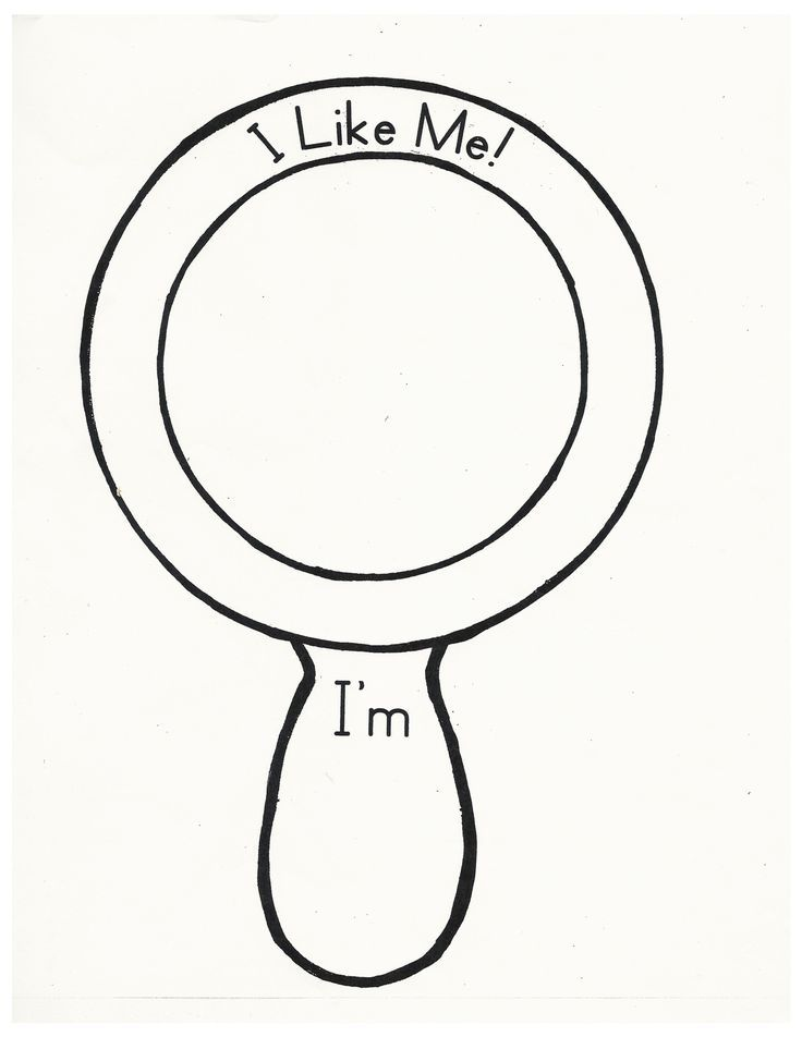 I Like Me Mirror Template Sketch Coloring Page