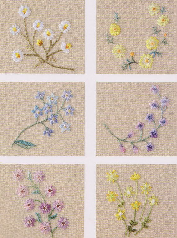 PDF Pattern Tutorial Hand Embroidery Stitch My Garden 40 Ladies Awesome Hand Stitch Embroidery Patterns